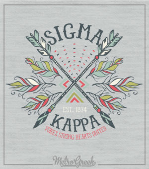 Sigma Kappa Crossed Arrow Shirt