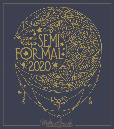 Sigma Kappa Moon Formal Shirt