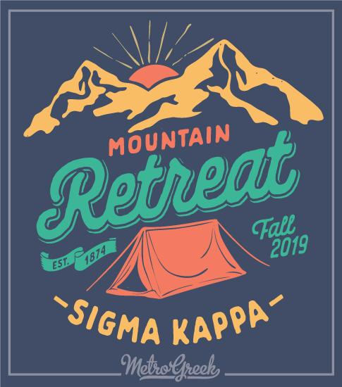 Sigma Kappa Mountain Retreat T-Shirt