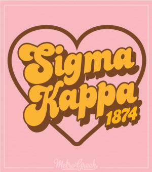 Sigma Kappa Retro Heart Shirt