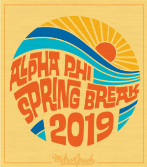 Alpha Phi Spring Break T-shirt