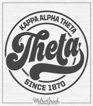 Kappa Alpha Theta Circle Script Shirt