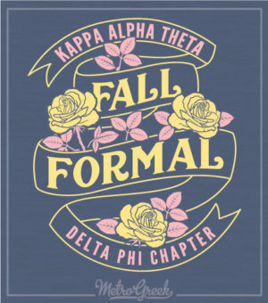 Theta Formal Shirt Banner Rose