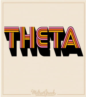 Kappa Alpha Theta Retro Seventies T-shirts