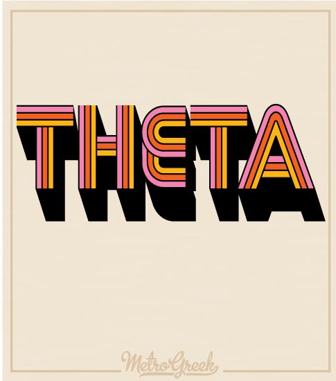 Kappa Alpha Theta Retro Seventies T-shirts