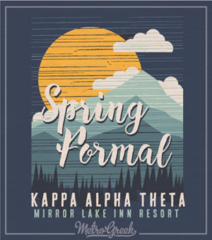 Theta Spring Mountain Formal T-shirt