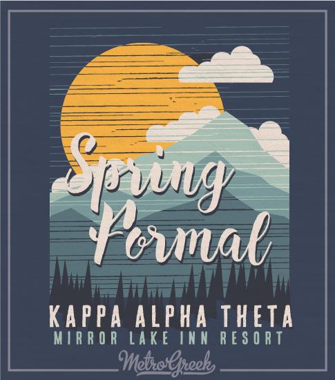 Theta Spring Mountain Formal T-shirt