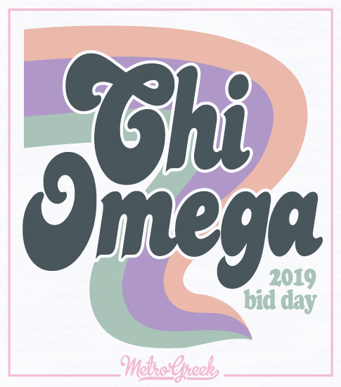 Chi Omega Throwback Bid Day Shirt