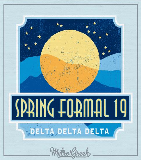 Tri Delta Formal Moon T-shirt