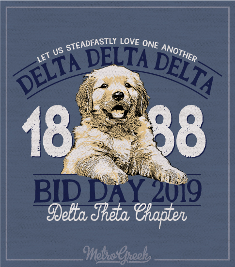 Tri Delta Lab Puppy Bid Day Tshirt