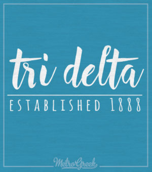 Tri Delta Script Long Sleeve T-shirt