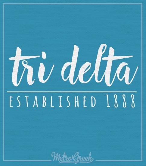Tri Delta Script Long Sleeve T-shirt