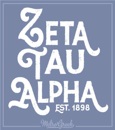 Zeta Tau Alpha Big Text T-shirt
