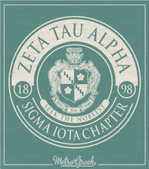 Zeta Tau Alpha Crest T-shirt