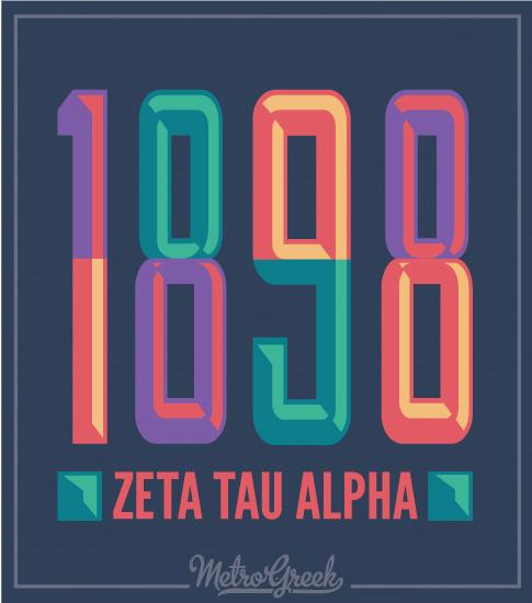 Zeta Tau Alpha T-shirt 1898