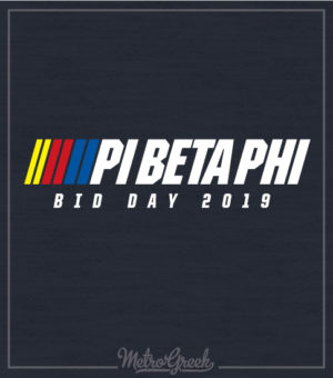 Pi Phi Nascar Bid Day Shirt