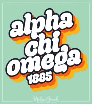 Alpha Chi Omega Retro Seventies Shirt