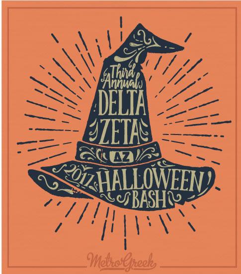 Delta Zeta Witches Hat Halloween Shirt