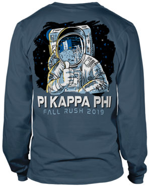 Pi Kapp Fraternity Rush Shirt with Astronaut