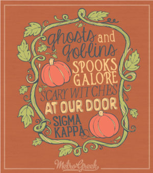Sorority Halloween Pumpkin Shirt