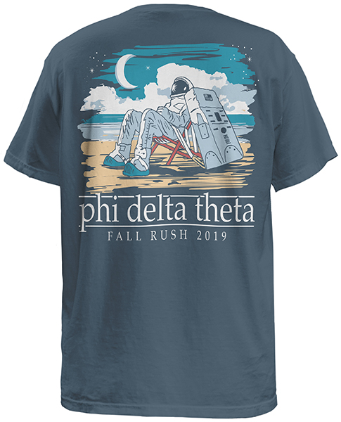 Phi Delta Fraternity Rush Shirt with Astronaut