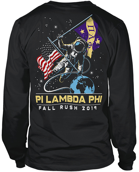 Pi Lam Fraternity Astronaut Rush Shirt