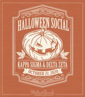 Delta Zeta Halloween Social Shirt