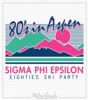 Eighties Fraternity Ski Party Shirt
