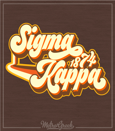 Sigma Kappa Retro Seventies Shirt