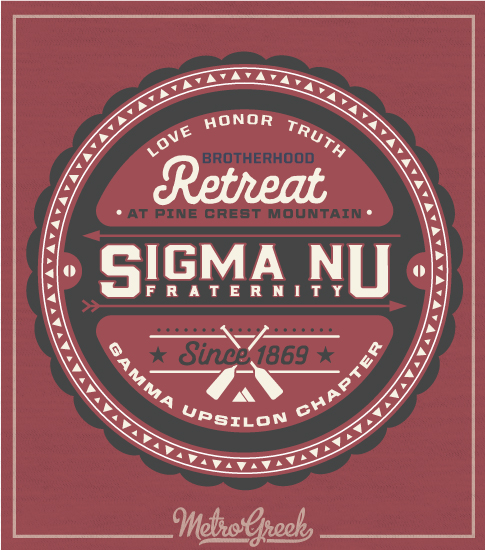 Sigma Nu Fraternity Retreat Shirt