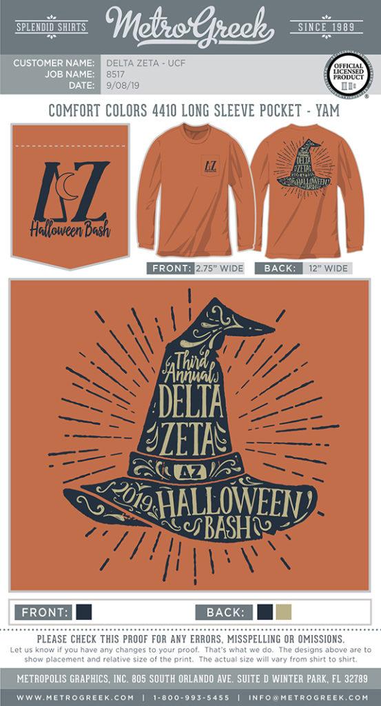 Delta Zeta Witches Hat Shirt