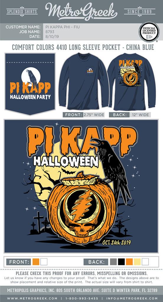Pi Kappa Phi Halloween Shirt