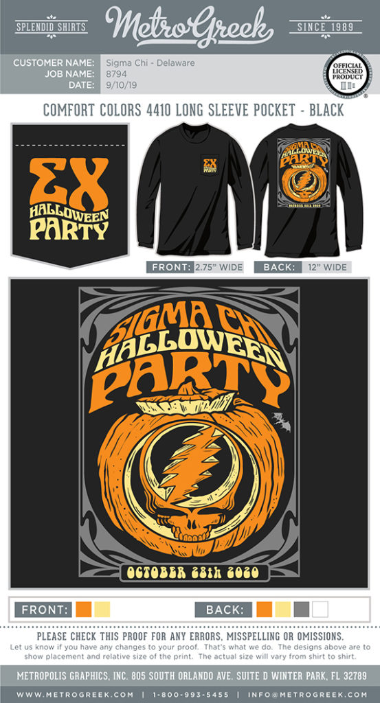 Deadhead Poster Pumpkin Shirt