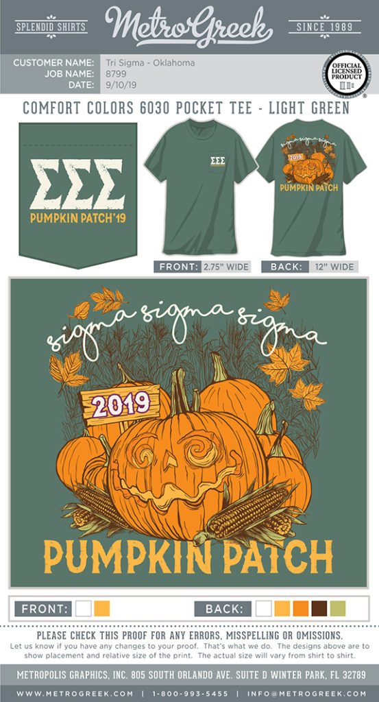 Tri Sigma Pumpkin Patch Shirt