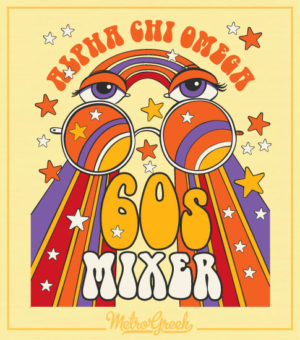 Alpha Chi Omega Sixties Mixer Shirt