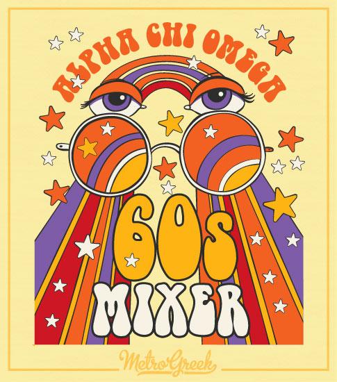 Alpha Chi Omega Sixties Mixer Shirt