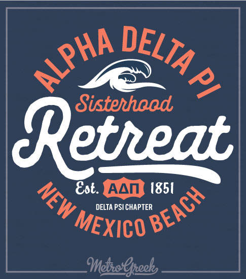 Alpha Delta Pi Beach Retreat Shirt