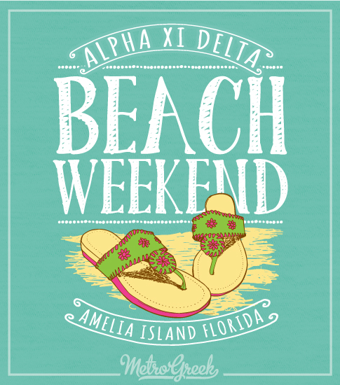 Alpha Xi Delta Beech Weekend Shirt