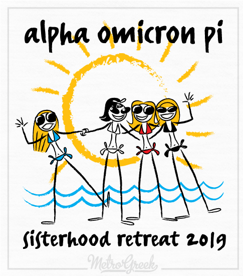 AOPi Sisterhood Beach Retreat Shirt