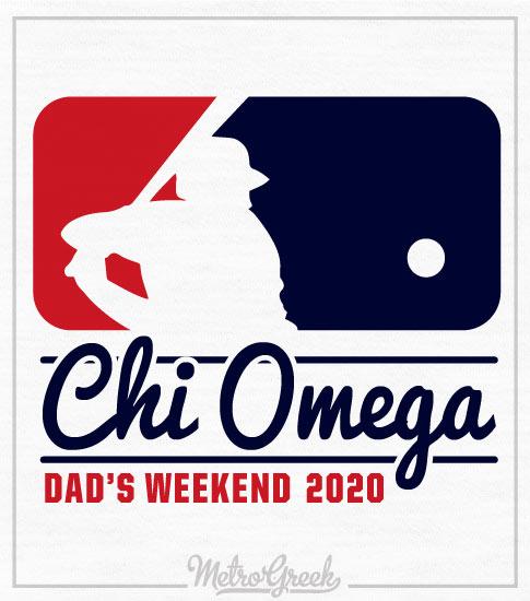 Chi Omega Dads Baseball Weekend Shirt