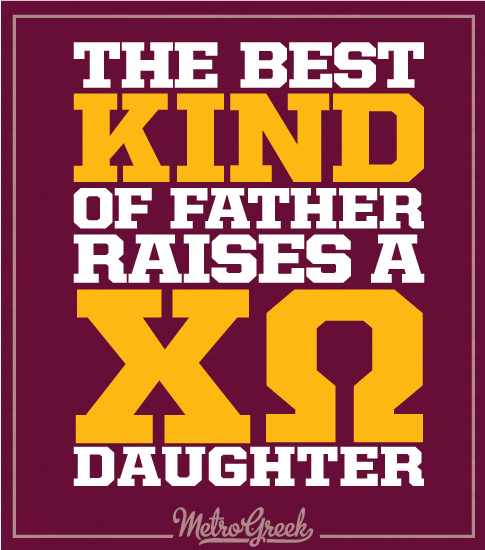 Chi Omega Father Daughter Day Shirt