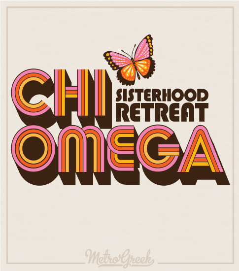 Chi Omega Retro Sisterhood Retreat Shirt