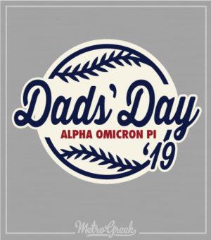 Dads Day Baseball Shirt Alpha Omicron Pi