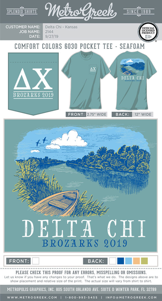 Delta Chi Brotherhood Retreat Shirt
