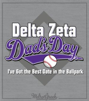 Delta Zeta Dads Day Baseball Shirt