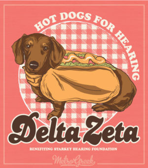 Delta Zeta Hot Dogs for Hearing Shirt