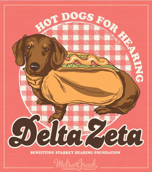 Delta Zeta Hot Dogs for Hearing Shirt