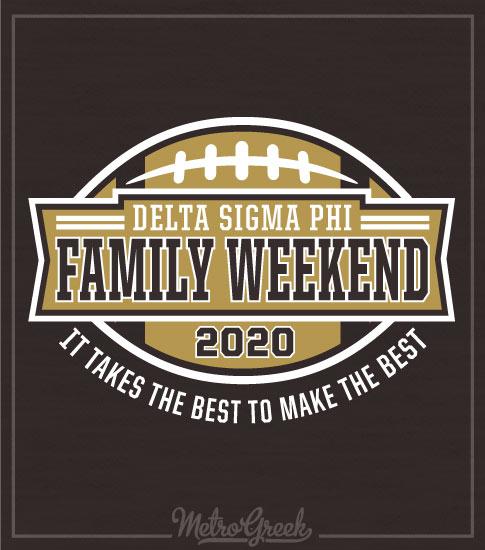 Family Football Weekend Shirt Delta Sigma Phi