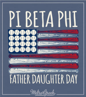 Father Daughter Baseball Shirt Pi Beta Phi