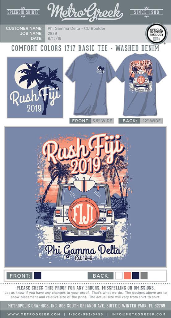 Fiji Fall Beach Rush Shirt